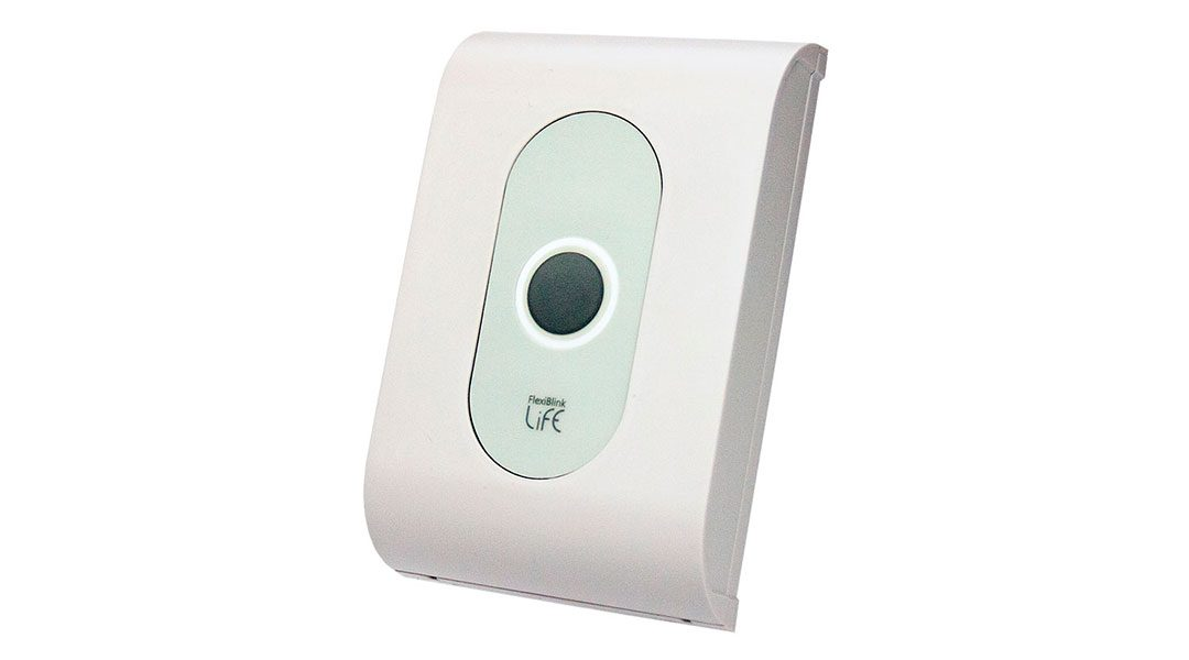 FlexiBlink Sender med integrert trykknapp