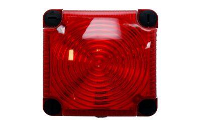 Mottaker med kraftig blinkende rødt lys
